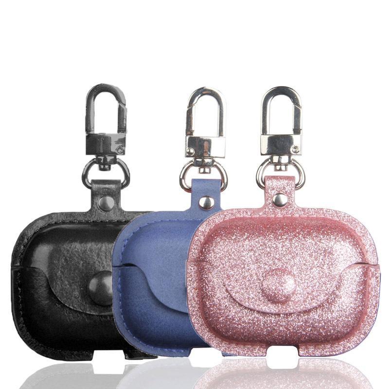 Custodia in pelle di scintillio per Airpods Pro Auricolare Bluetooth Box protezione PU copertura per AirPods 2/1