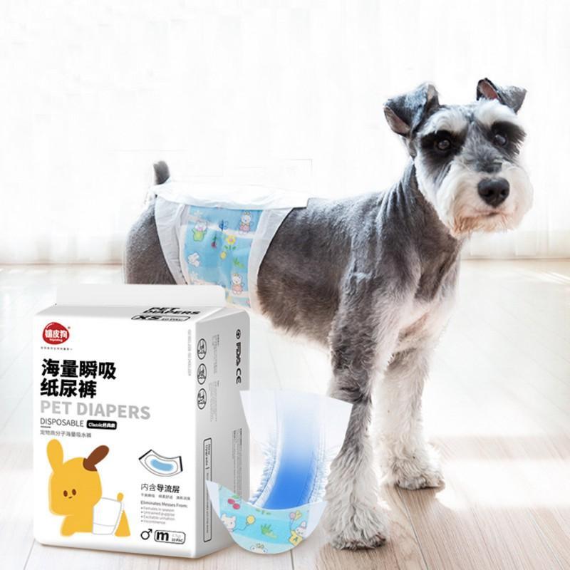 Cane usa e getta Wrap Dog Pantaloncini Doggie pannolino durevole del cane pantaloni Coperte da Maschio Cani 3 Taglia S M L