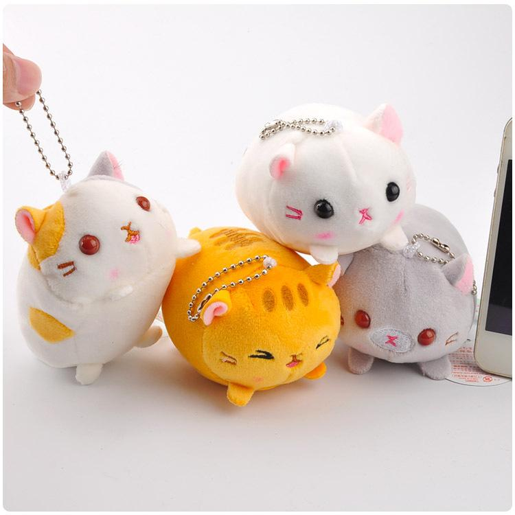 4 Pcs/set Cartoon Cat Small Pendant Cute Cat Plush Toy Doll Small Pendant For Girls ' Birthday Gift