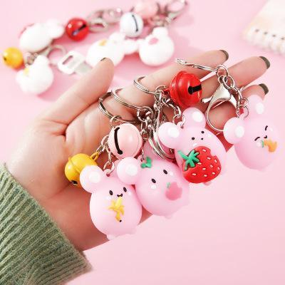 Ciondolo regalo dolce Little Mouse campana Portachiavi Nuovo creativo dell'anello chiave portachiavi in lega Bag Ornamenti 8 stili