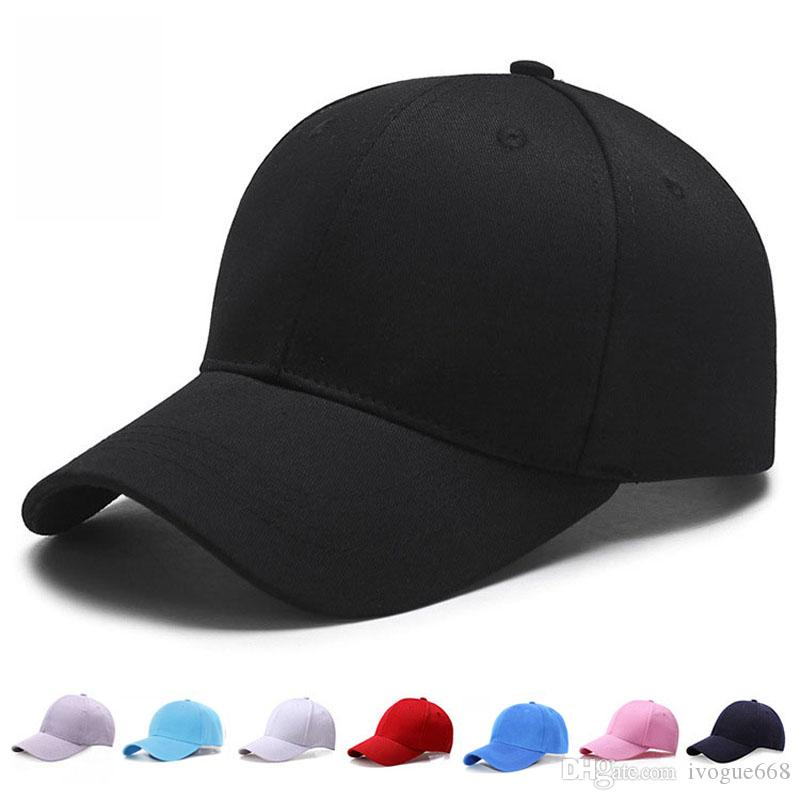 Brand New Men Women Plain Curved Sun Visor Baseball Cap Hat Solid Color Adjustable Caps Snapback Golf ball Hip-Hop Hat Caps
