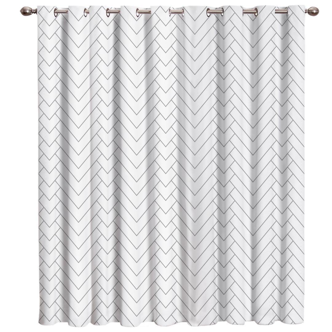 Geometrico Motivo naturale a spina di pesce della finestra tende scure Blackout da cucina Pannelli coperta decorazioni floreali Bambini Tenda