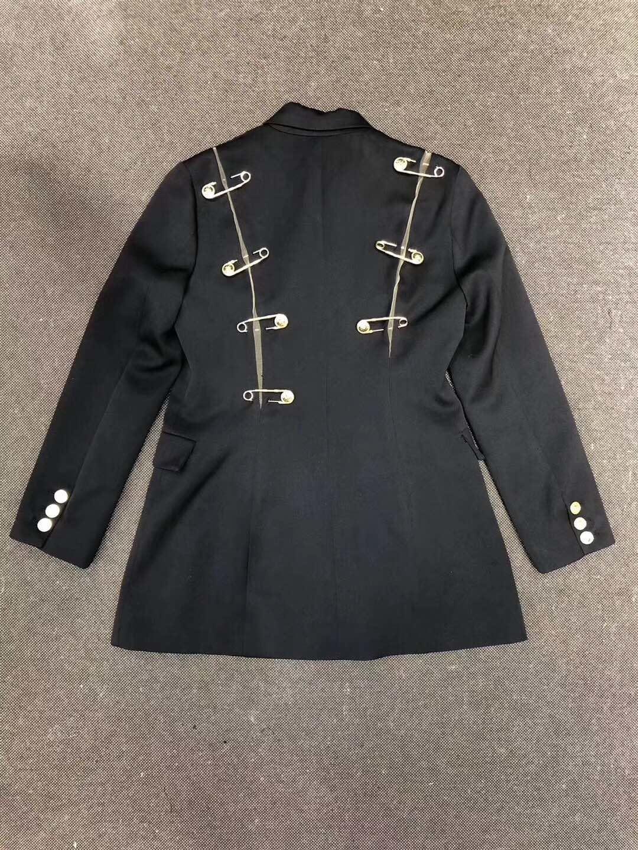 украшения одежды в японском стиле Pin женщин Slim Fit женщин куртка пальто с длинным рукавом блейзер повседневная верхняя одежда пальто плюс размер женской одежды