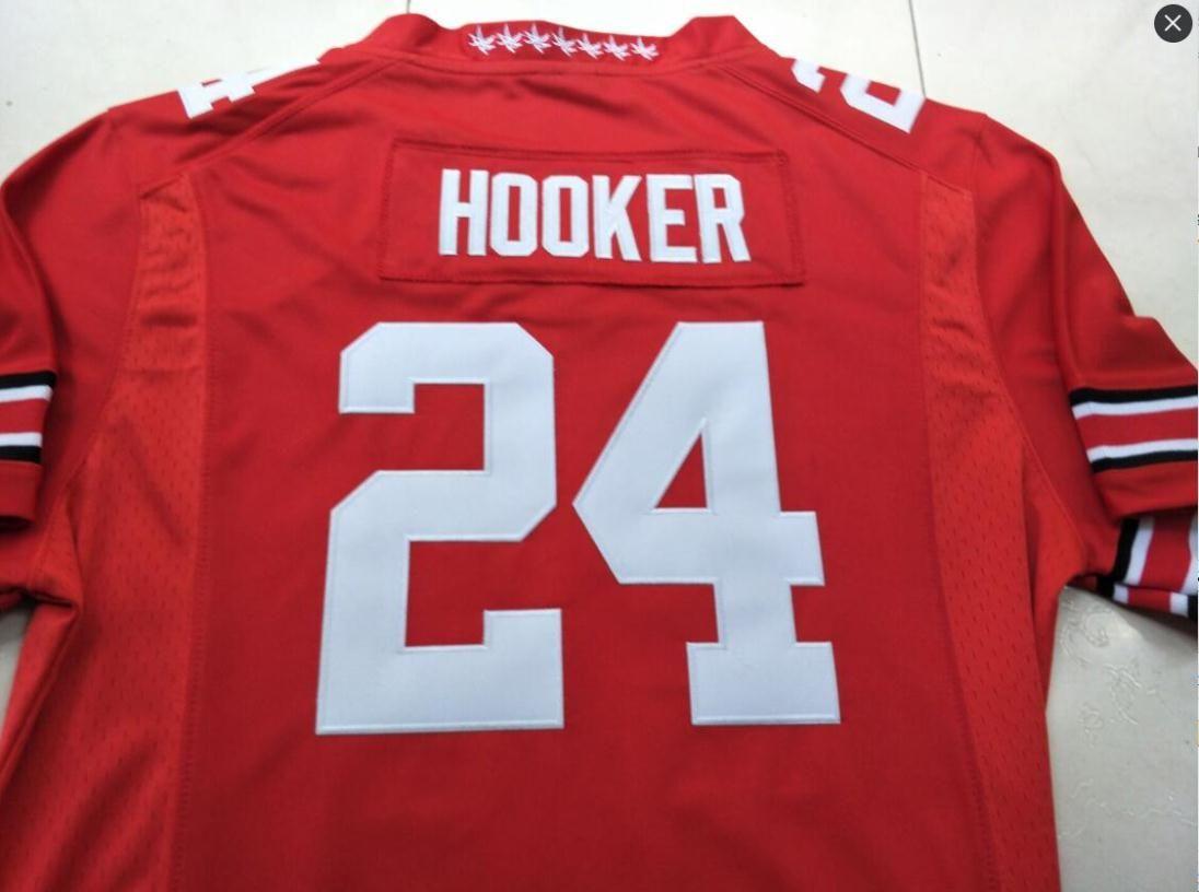 Пользовательские Мужчины Молодежные женщин # 24 Malik Hooker штат Огайо Buckeyes Футбол Джерси размер S-5XL или пользовательский любое имя или номер джерси