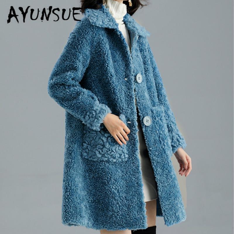Casaco de Pele das mulheres reais casaco de inverno Roupas Femininas 2019 100% Wool Jacket Sheep Shearing Curto Parka real Fur Jacket LMN99017 YY2361