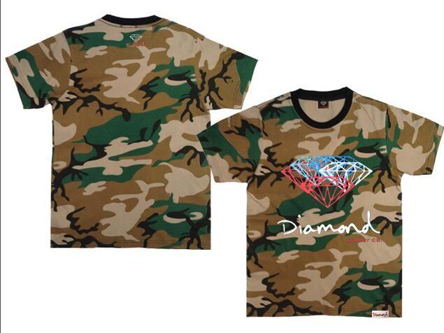 los hombres del diamante 3D CAMISETAS de manga corta camiseta del monopatín ropa de la marca de moda hip hop hombre tops streetwear camiseta homme