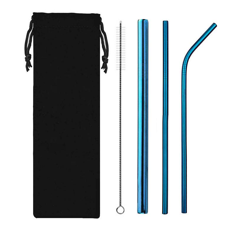 Azul de aço inoxidável classe 304 aço inoxidável metal Straw