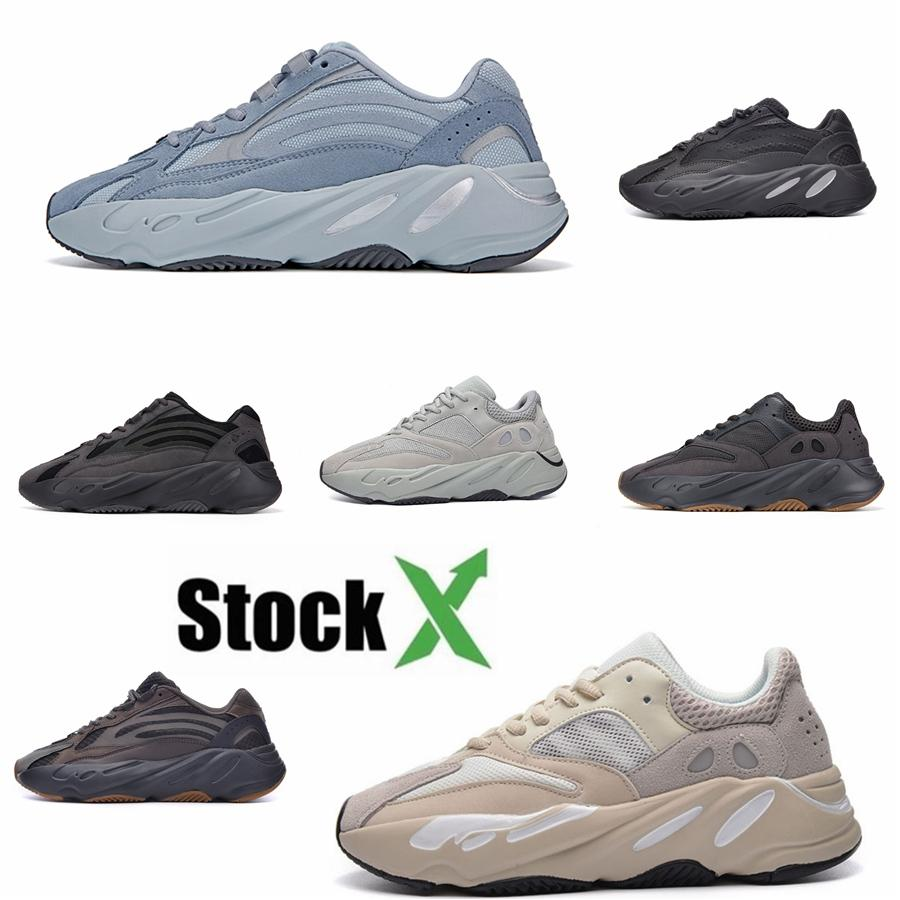2020 zapatos corrientes de Tim Nueva Mnvn 700 Naranja V1 V2 V3 Bone inercia Tefra estático sólido Kanye West Hospital de las zapatillas de deporte para hombre de Carbono Azul Azul # DSK688