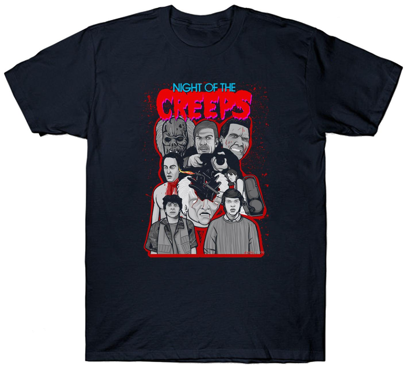 Nacht der Creeps T Shirt Top Kult Film Film 1980 S Fan Horror Sci Fi