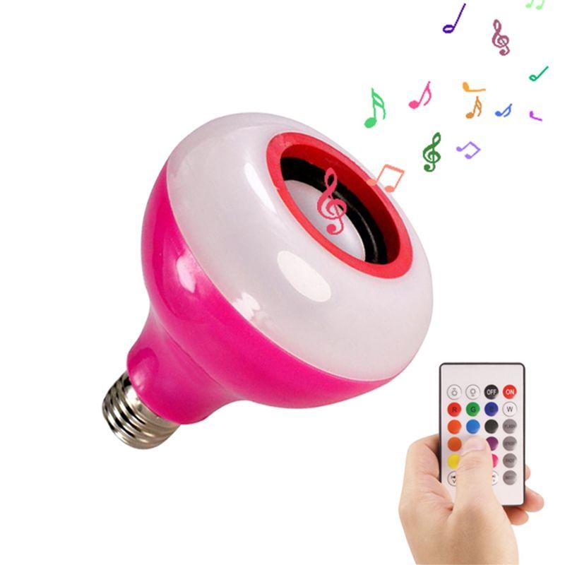 Intelligent E27 Bluetooth Musik-LED-Lampen Bunte Bluetooth Lautsprecher-Glühlampe Wireless Audio-Birne + 24 Tasten Fernbedienung