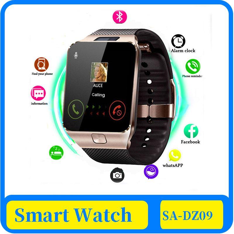 Inteligente reloj 100x Dz09 reloj inteligente TF de la ayuda de Sim Cámara Hombres Mujeres Deporte Bluetooth Reloj de pulsera para Samsung Huawei Xiaomi teléfono Android
