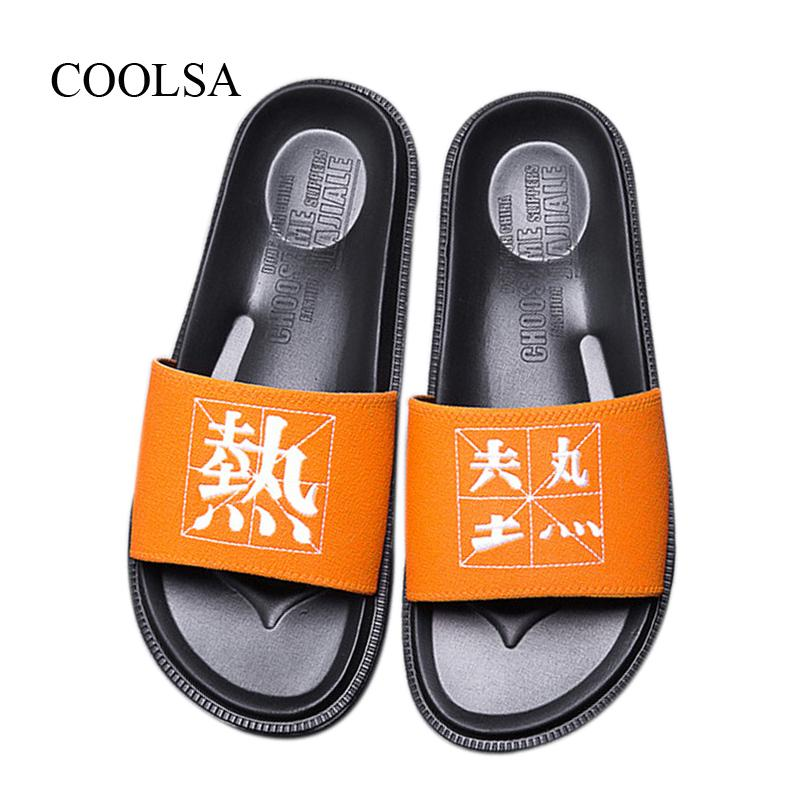 New Men's Summer Flat Suede Chinese Couple Slippers Indoor Non-slip Home Slippers Men Slides Beach Flip Flops Sandals Home Shoes