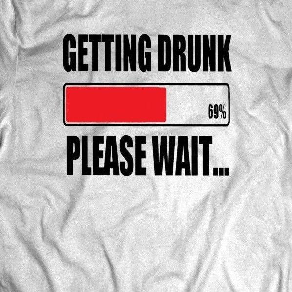 Getting Drunk Please Wait Drinking Mens Graphic Tank Top