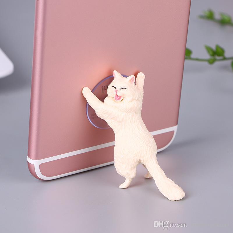 Cute Cat Phone Holder Universal mobile phone bracket Tablets Desk Car Stand Lazy Mobile Phone holder Animal Holder for Smartphone