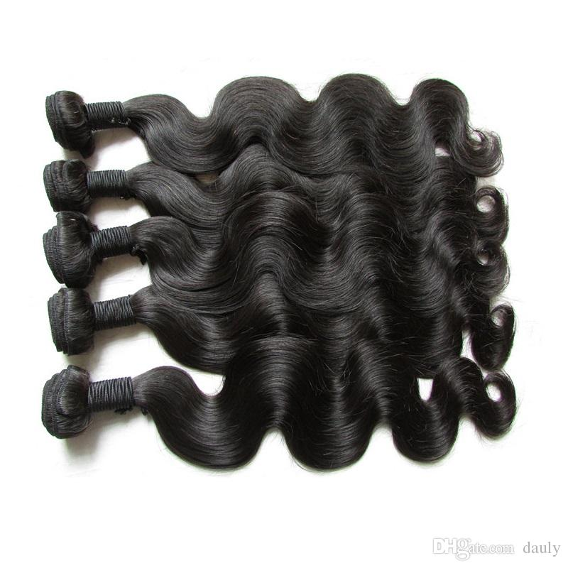 Original Cuticle Aligned Brazilian Virgin Hair Body Wave 5 Bundles 500g Unprocessed Human Hair Bundle Weave Natural Color Cut From One Donor