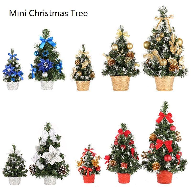 Árvore de Natal Mini Xmas pequeno Pinheiro Ano Novo Home Office Table Desk Ornamento da árvore de Natal artificial
