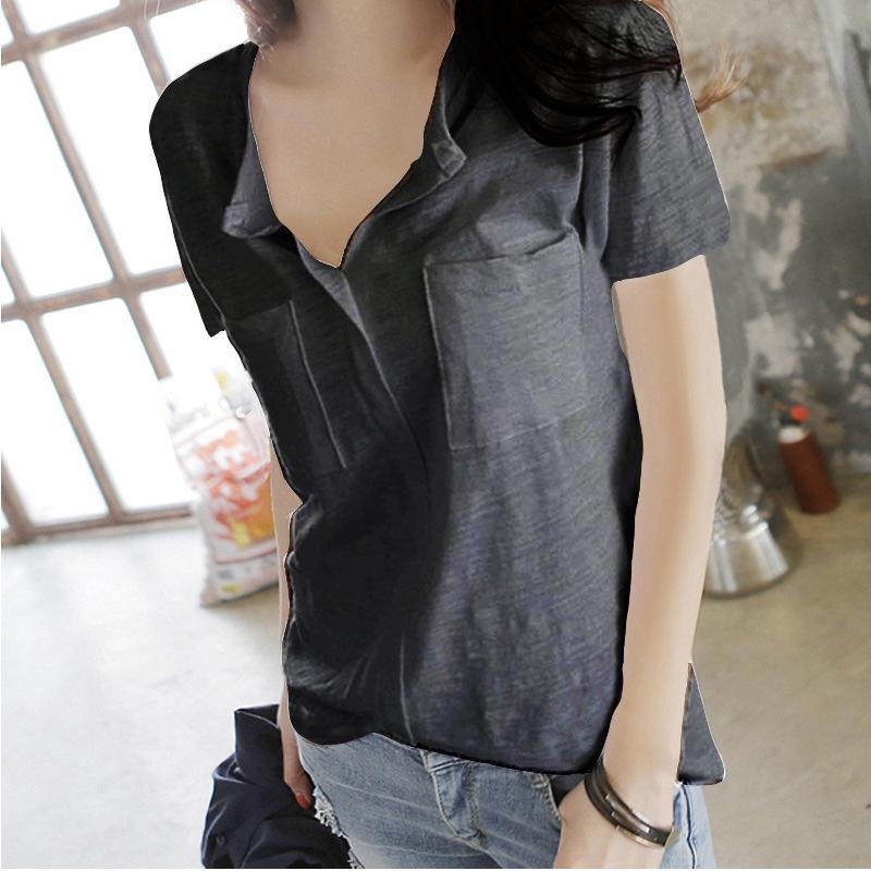 Бамбук хлопок с короткими рукавами футболка Женская чистый хлопок 2020 летняя одежда большой размер футболки женская однотонная рубашка свободные
