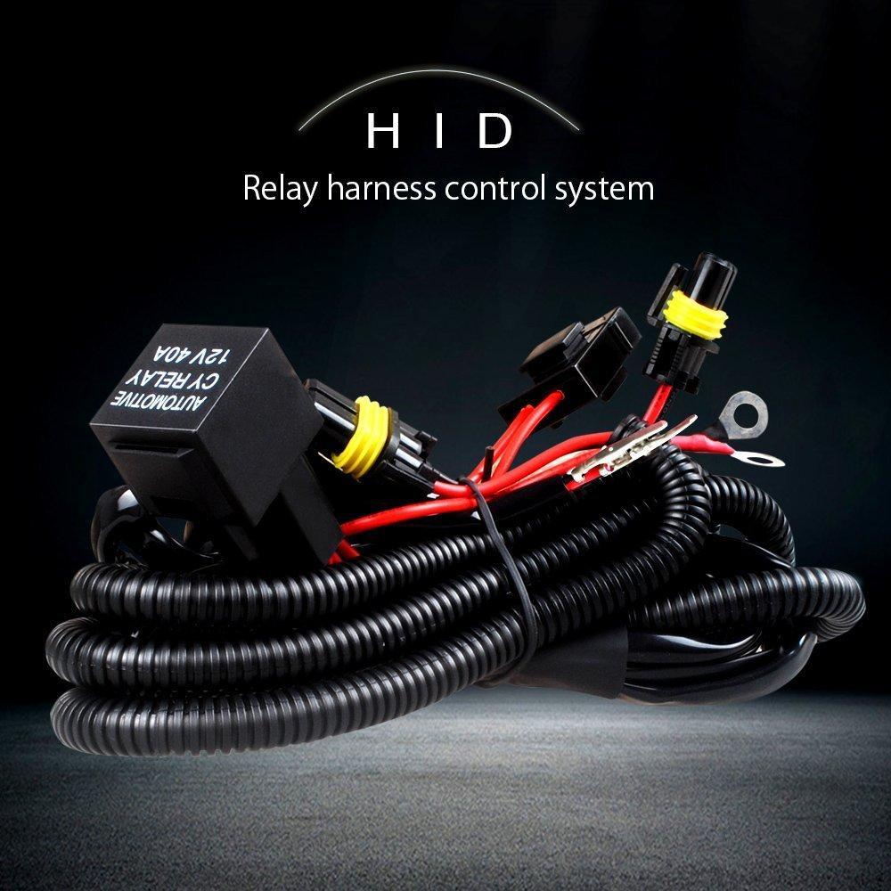 1x 차량용 키트 크세논 HID 와이어 헤드셋 H1 H3 9005 9006 HB3 HB4 880 H11 H7 HID 릴레이 하네스 배선 키트 오토바이 12V 35W / 55W