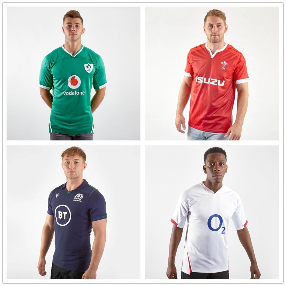 Six Nations 2020 Ireland Welsh Rugby equipamento de camisa da equipe nacional Scotland Englands de rugby jerseys s-5XL DHL transporte livre