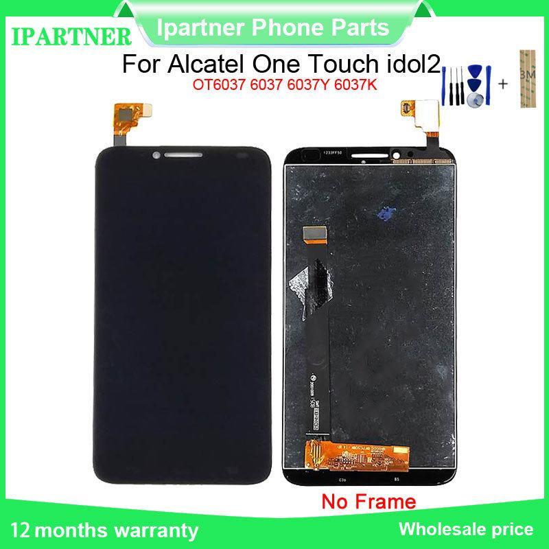 Для Alcatel One Touch idol2 OT6037 6037 6037Y 6037K LCD сенсорный экран Digitizer Assembly Замена для Alcatel 6037