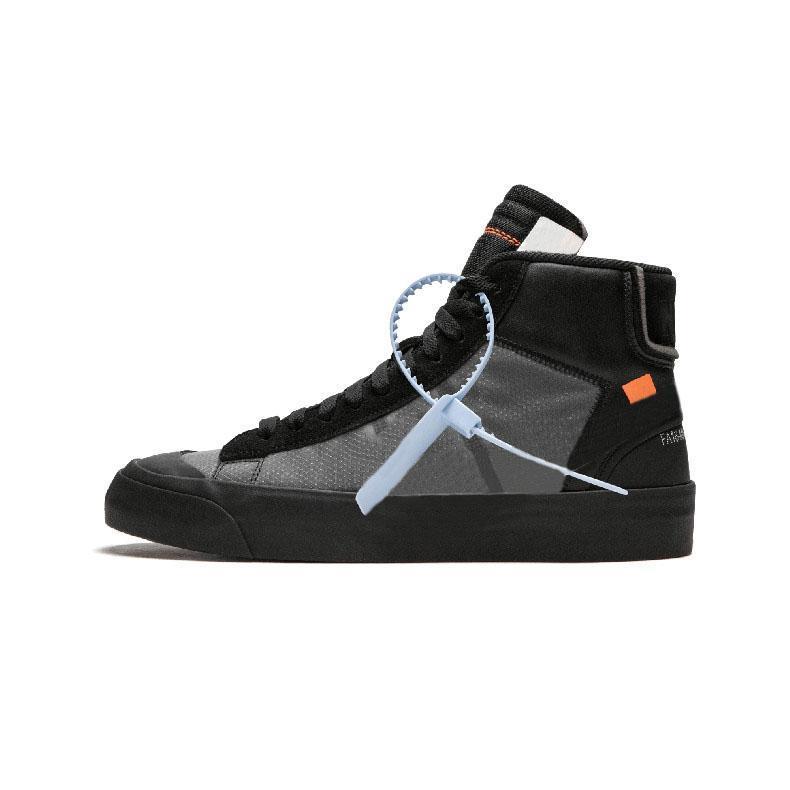 2019 OFF-White x Nike Blazer The Ten New Release Blazer Mid All Hallows Eve Grim Reepers Sneakers Pale Vanilla Black-Total Orange Alta qualità 10X Sport Running