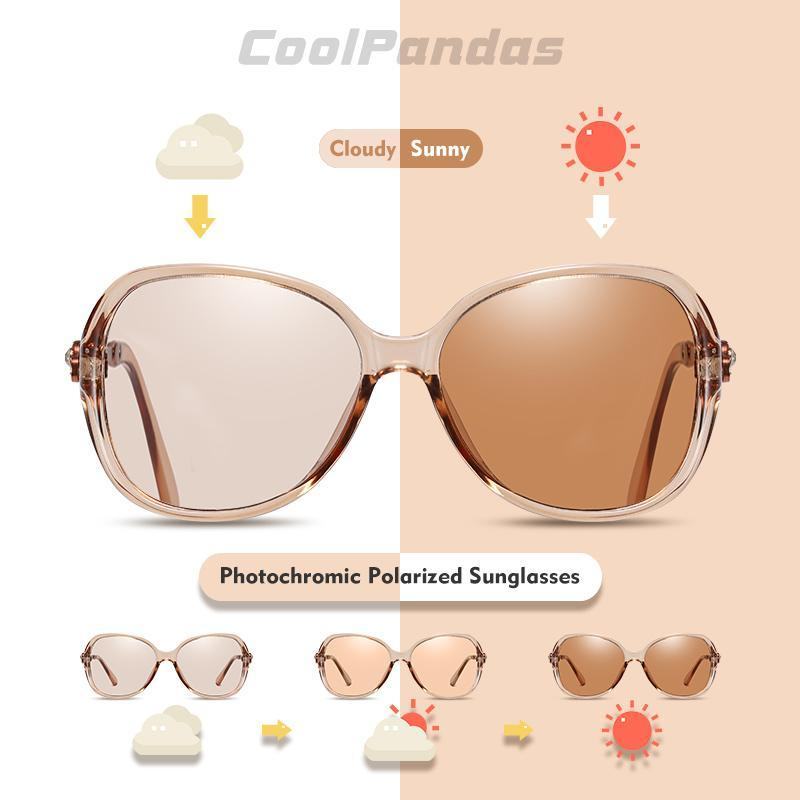 2020 photochromiques Lunettes de soleil femmes Caméléon Lunettes polarisants au volant Vitres teintées Goggle Anti-Glare Lunettes de soleil Soleil Femme aIEXZ Lunette