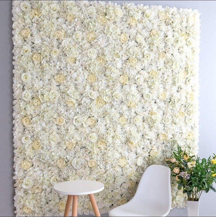 High quality 40x60cm silk rose artificial flowers wedding decoration flower wall romantic for wedding background decoration