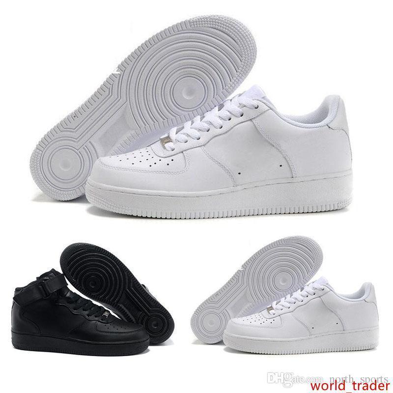 Nueva Dunk Hombres Mujeres FlyLine los zapatos corrientes de los deportes que andan en monopatín zapatos de alta escotado Blanco Negro Aire libre Zapatillas zapatillas de deporte 36-46 Eur
