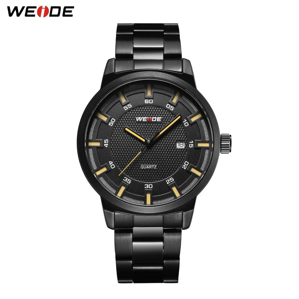 WEIDE Erkekler İş Marka Sıcak Tasarım Askeri Siyah Paslanmaz Çelik Kayış Erkekler Dijital Kuvars Bilek İzle bir olsun bir satın saatler