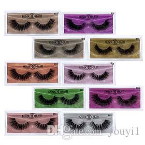 maquillaje visón visón 3D ojo pestañas pestañas postizas suave natural grueso de falsas herramientas de belleza Extensión Pestañas 10styles