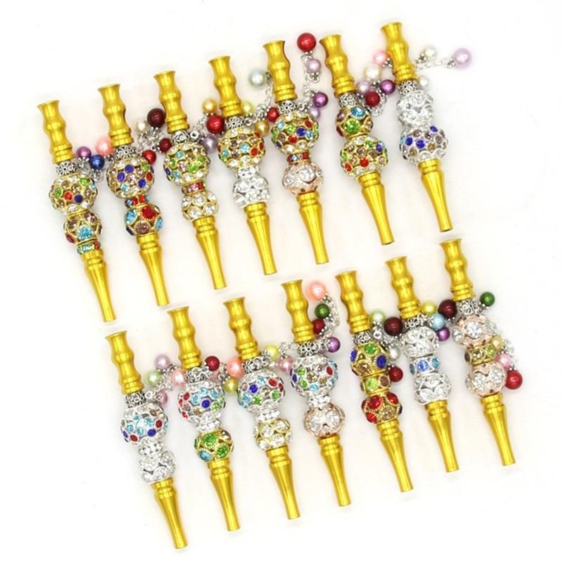 Sheesha filtro Bocchino Drip Tip Bling strass colori dorati Hookah Mouth Tips bocchini per il fumo Accessori 15kl A29