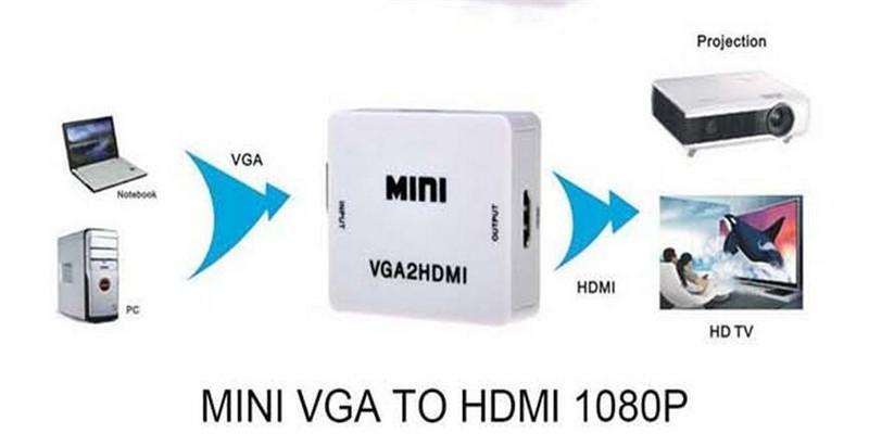 100pcs mini stile HDMI a VGA al convertitore di HDMI con audio HDMI2VGA VGA2HDMI 1080P adattatore del connettore per il proiettore PC Laptop a HDTV