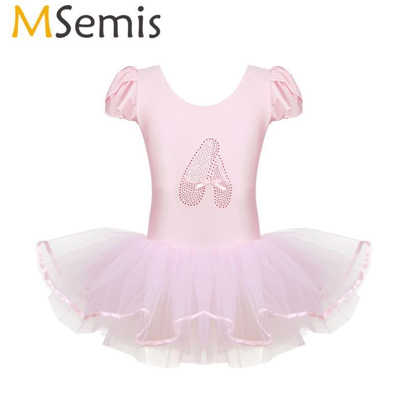 Носить сцену MSEMIS Kids Baby Girls Ruffled Cap Willeves Professional Dance Sequined Ballerina Обувь Гимнастика leotard Tutu Балетное платье