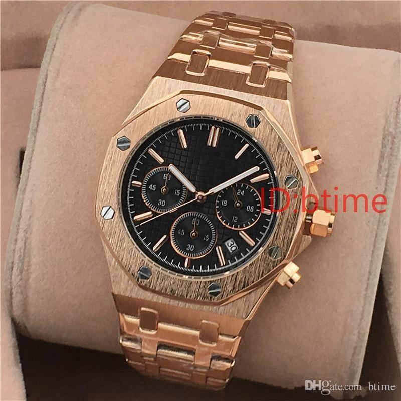 All Subdials Working Chronograph Mens Watch Fashion Quartz movement Stopwatch Luxury Watches Designer Wristwatches btime mechanical