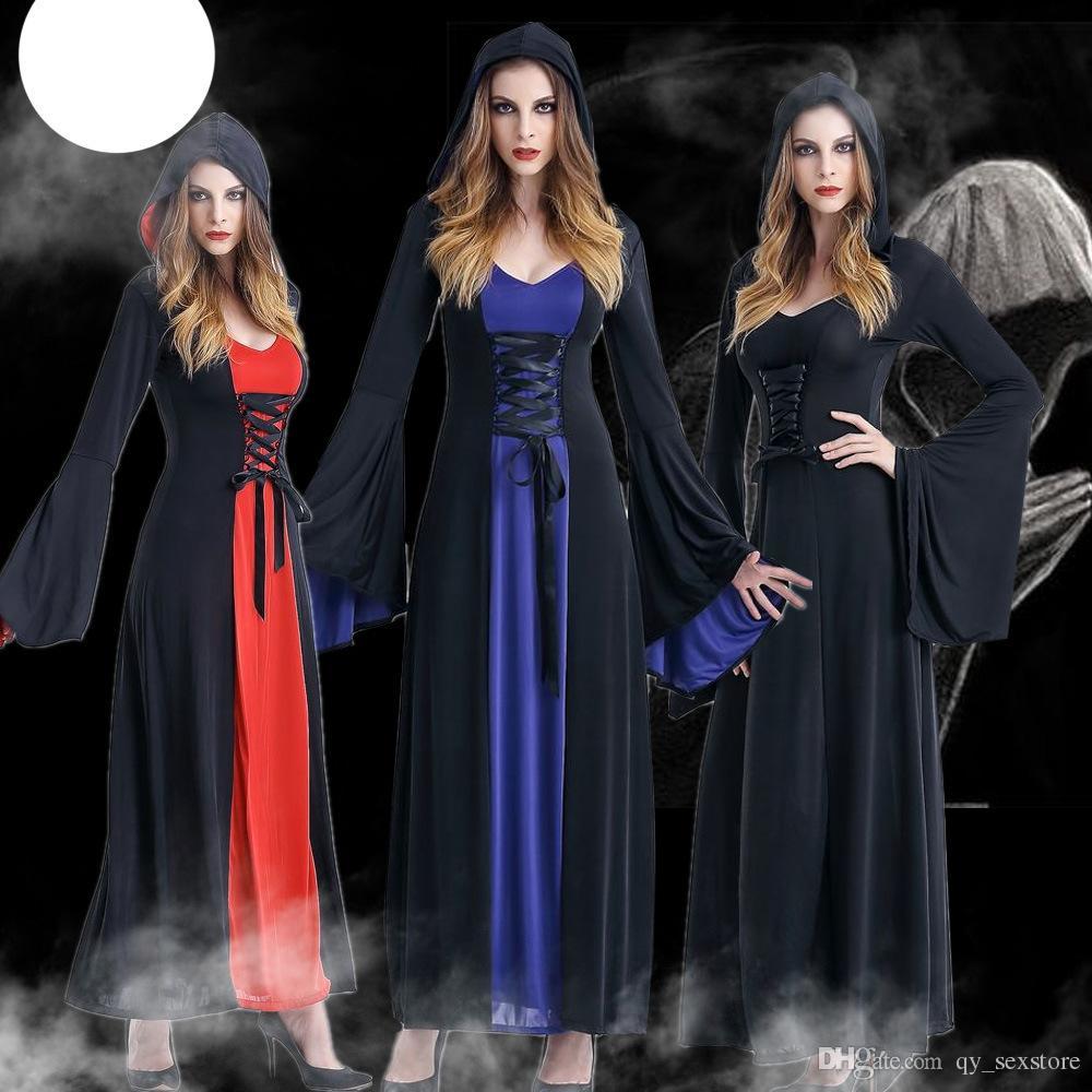 Nuovo per adulti costume strega di Halloween per le donne viola sexy Bretelle Cappellino da Carnival Party Femminile Suit