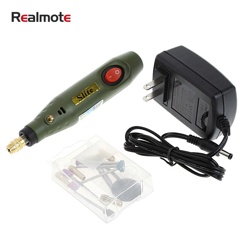 Realmote High Quality Micro Drill Electric 220V Engraving Machine Power Tools Group Mini Mill dremel
