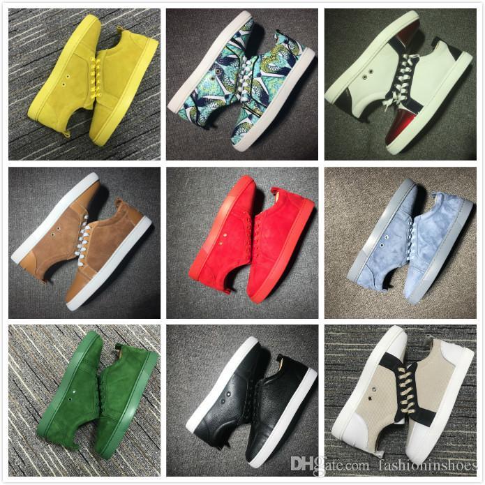 scarpe fashioninshoes di design di lusso pantoufle Junior Spikes Orlato Uomini piatto fondo tripla bassa sneaker epoca gz cc allenatore Martin rosso