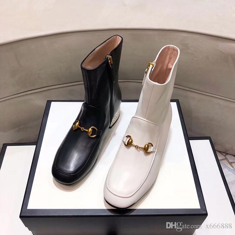 Женская кожаная обувь на шнуровке с пряжкой на ремне ботильоны заводской прямой женский грубый каблук с круглой головкой осень зима Martin Boots US5-9