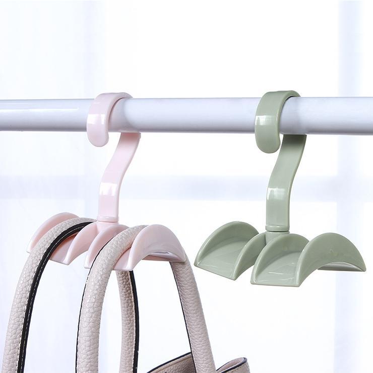 Gancho giratorio Armario de almacenamiento de lavandería bufanda Lazos Ropa S estante Forma Gabinete de lavandería rack de 360 grados gancho ahorro de espacio
