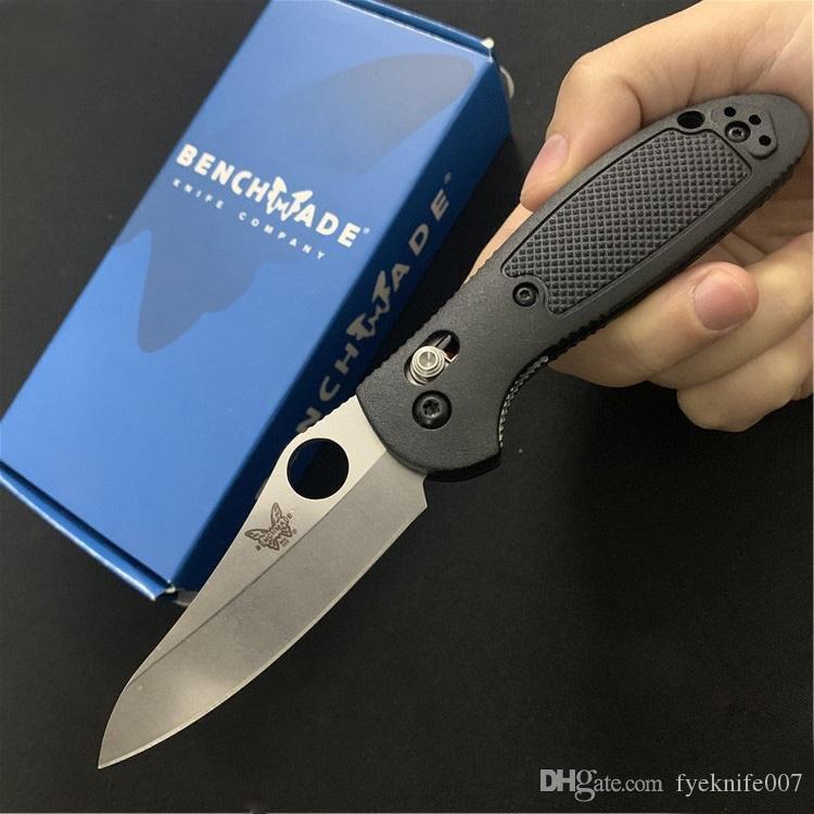 Benchmade BM 555-1 555 MINI AXIS Folding faca 440C lâmina afiada FRN Handle ferramenta Camping faca Outdoor BM484 BM42 BM940 BM940-1 EDC