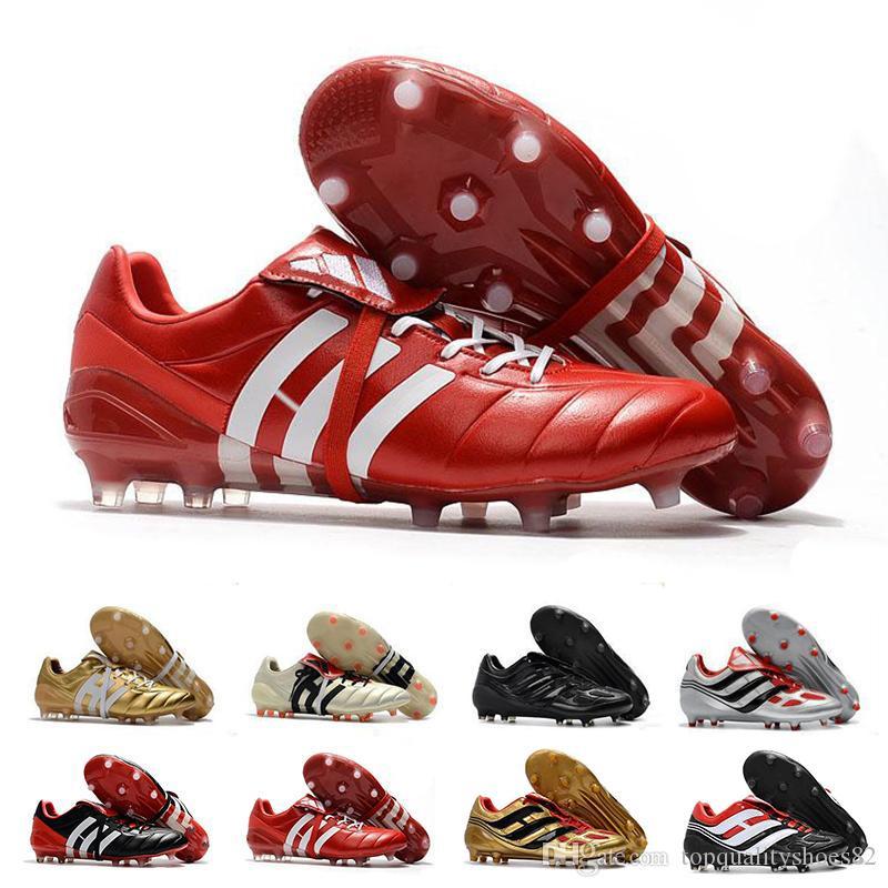 2020 Mens Tacos de fútbol Predator Acelerador FG AG zapatos de cuero del fútbol PREDATOR ACELERADOR TR crampones de fútbol Botas Eur 39-46