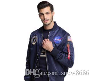 erkekler 07 için ceket adam üniversite amerikan kolej bombardıman uçuşu ceket uçan Yeni erkek giyim bahar Sonbahar ince NASA Donanma