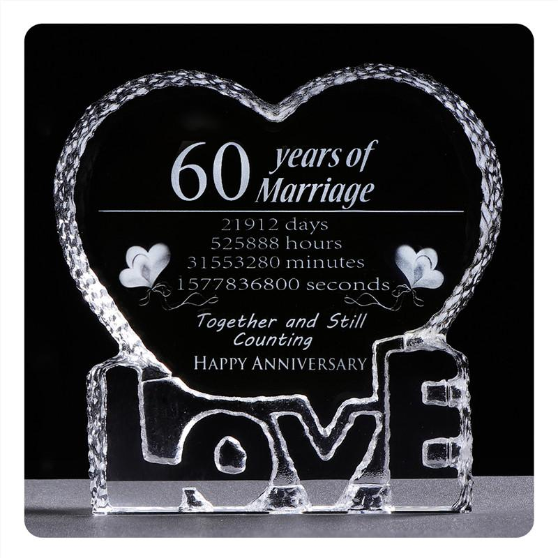 60th Anniversary Gifts Wedding Favors Laser Engraving Love Heart Shape Souvenir Crystal Wedding Anniversary Giveaways Good Party Favors Graduation Party Decorations From Griffith 19 14 Dhgate Com