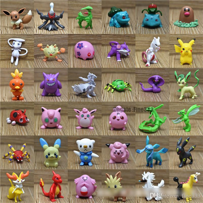POKEMAN GO Figures Toys 100/150 Different Characters M Size 3-5CM Ball Doll Surprise TOYS WK1101