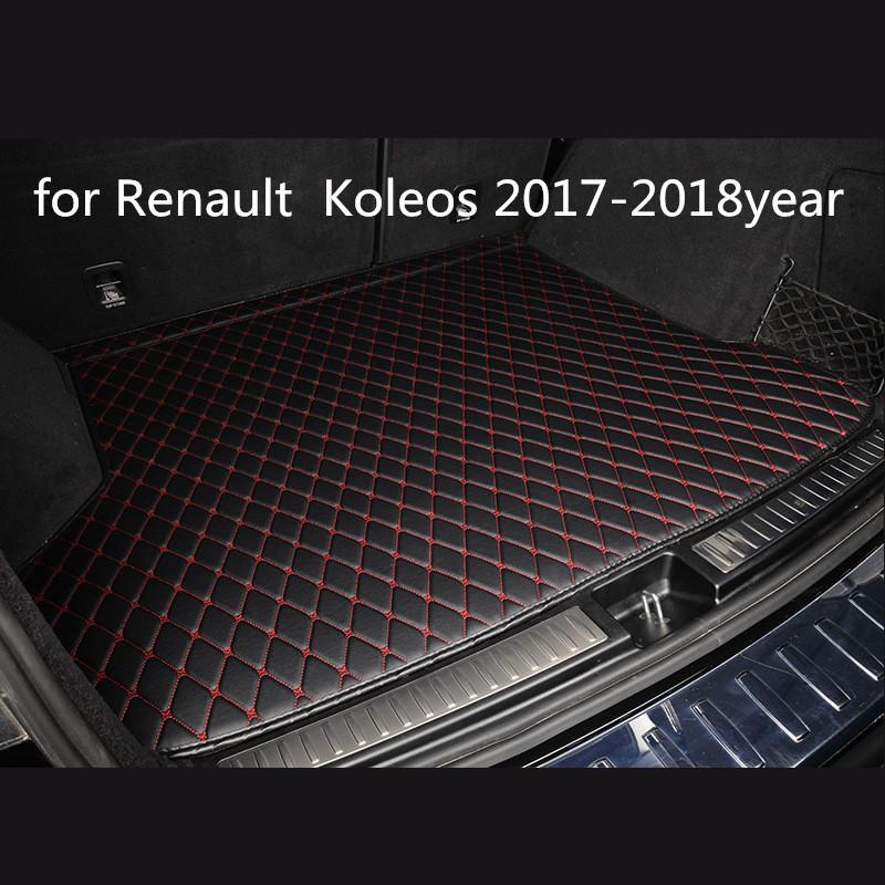Renault Koleos 2017-2018year araç kaymaz mat için özel bir anti-patinaj deri araba bagajı paspas paspas uygun