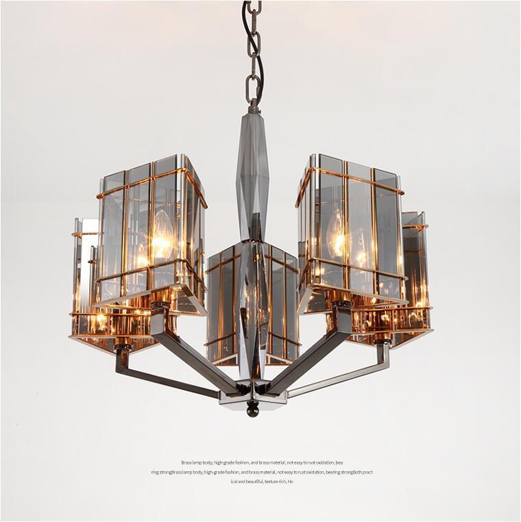 ما بعد الحداثة الثريا فاخر بسيطة كريستال الإضاءة الكلاسيكية مطعم الفن الإبداعي بقيادة مصابيح التصدع في غرفة النوم غرفة المعيشة