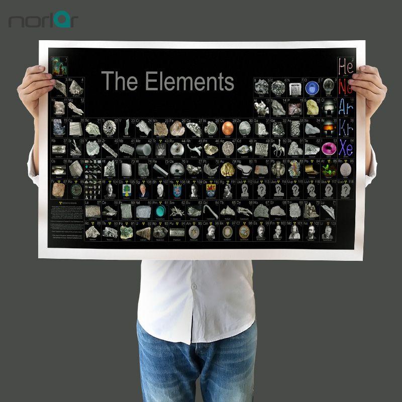 Frameless pintura da lona parede Imagem Posters Tabela periódica do objeto Elements com material Wall Art pintura retrato