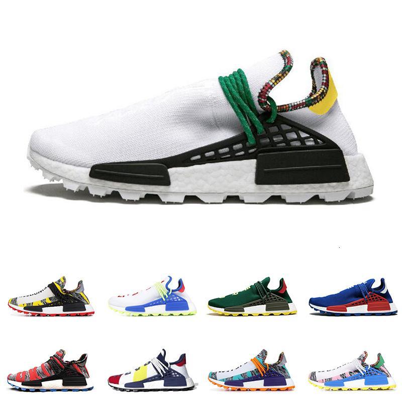 Yeni Hu Pharrell Williams insan ırkı Erkekler Kadınlar Koşu Ayakkabı Nerd Siyah Mavi Yeşil Güneş Paketi Erkek Trainer Spor Spor ayakkabılar