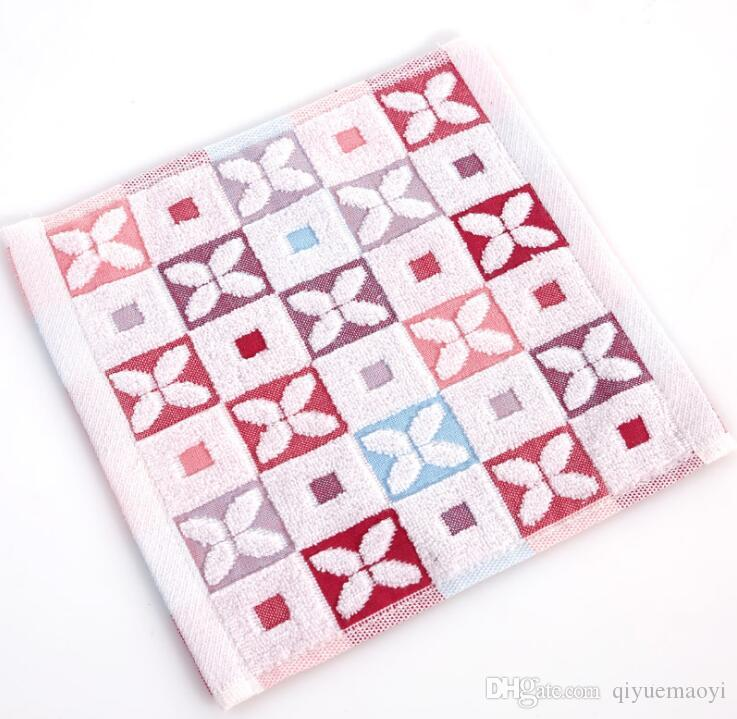 Fazzoletto delle ragazze delle donne hanky morbidi tessuti fazzoletti di cotone della banda pacco fiore asciugamani scuola materna cartone animato per bambini di massa