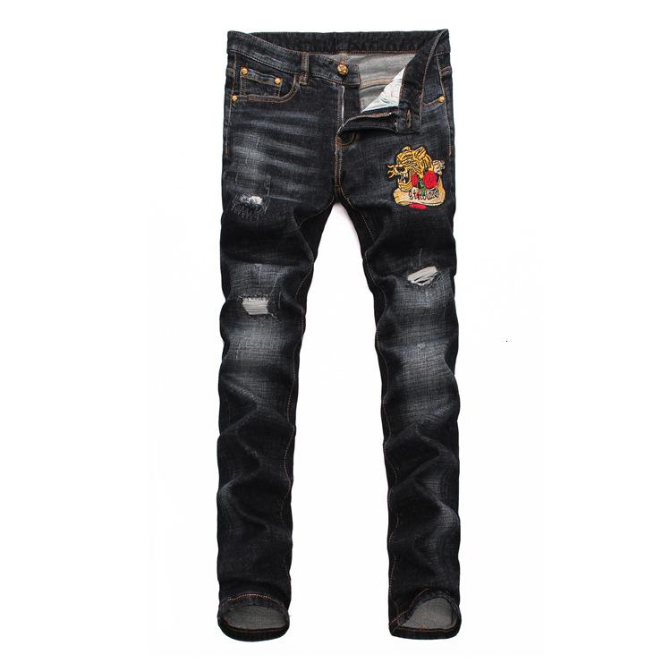 Fyzz New Arrival Men's Wear Original Design Men Fashion Jeans High Quality Trousers Straight Trousers Slim And Comfortable Gh87